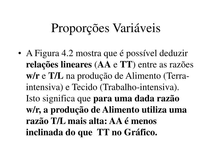 Proporções Variáveis