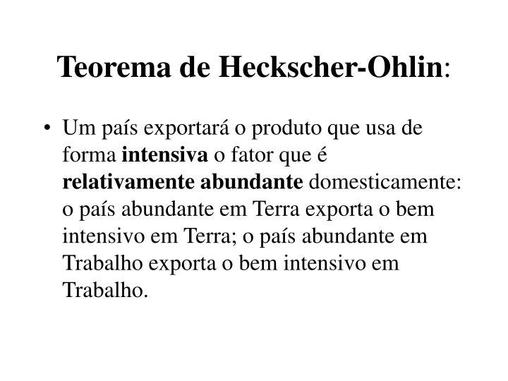 Teorema de Heckscher-Ohlin
