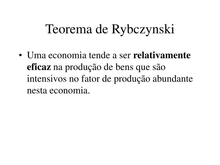 Teorema de Rybczynski
