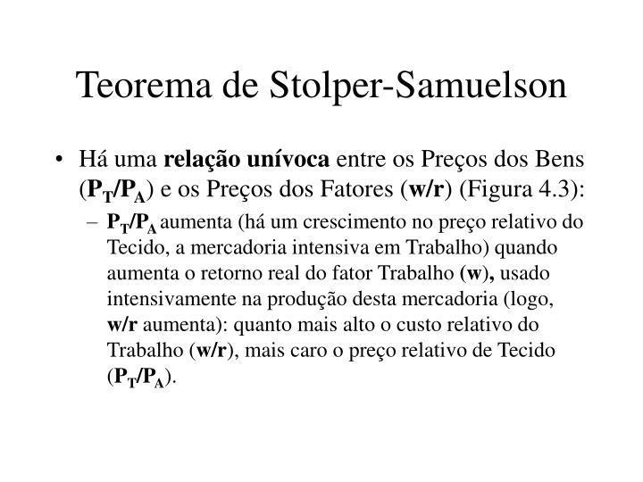 Teorema de Stolper-Samuelson