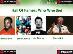 hall of famers who wrestled