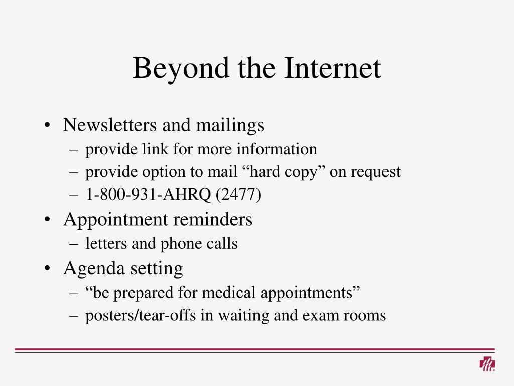 Beyond the Internet