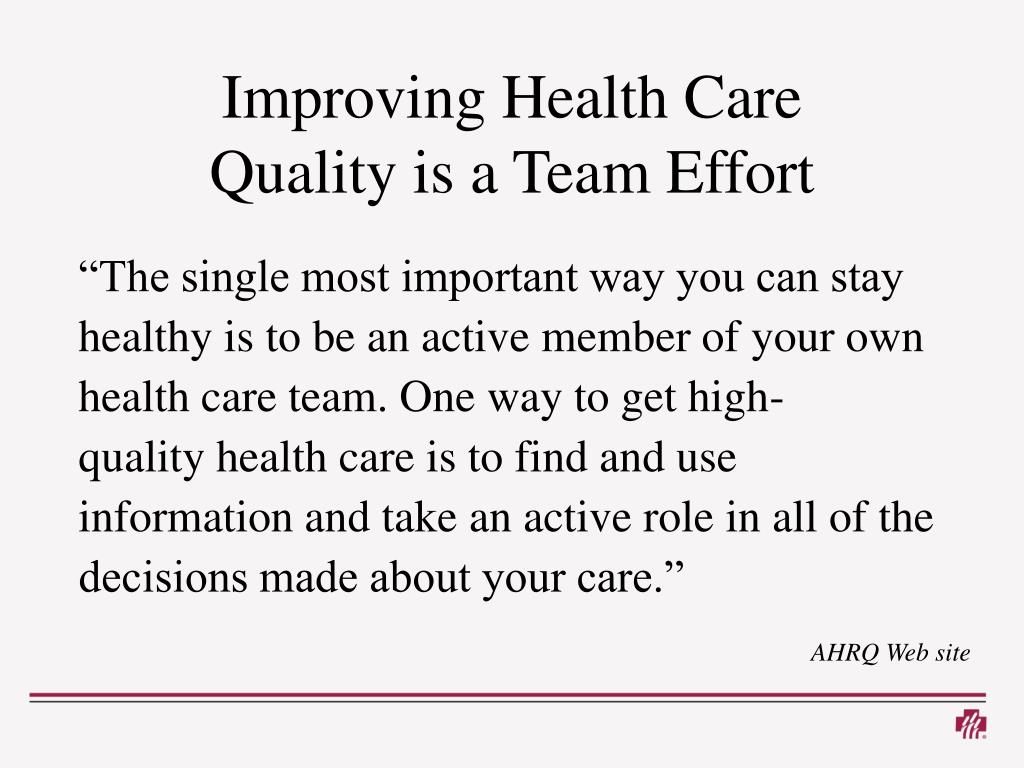 Improving Health Care
