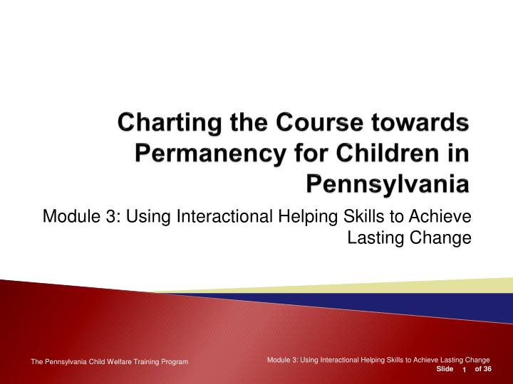 charting the course towards permanency for children in pennsylvania n.