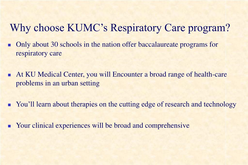 Why choose KUMC's Respiratory Care program?