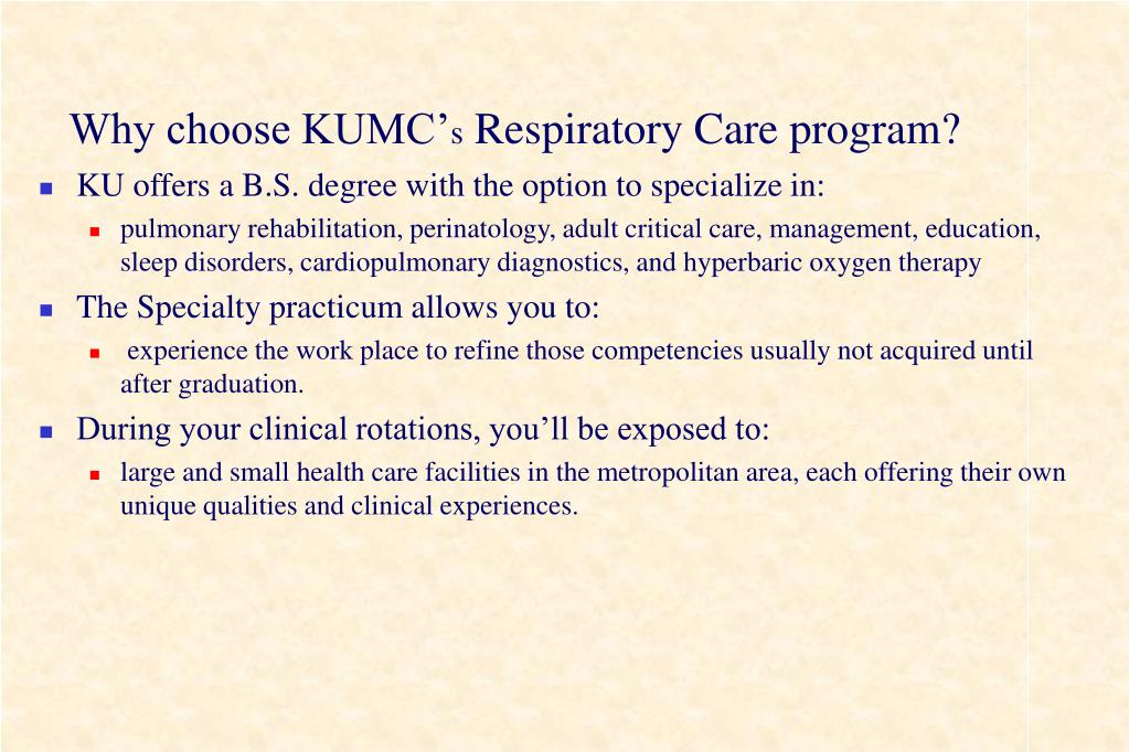 Why choose KUMC'