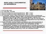 base legal e documentos de refer ncia