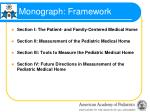 monograph framework