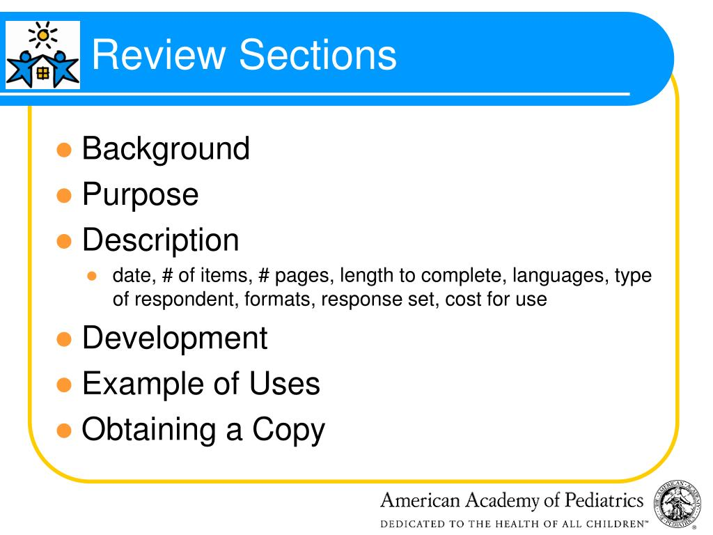 Review Sections