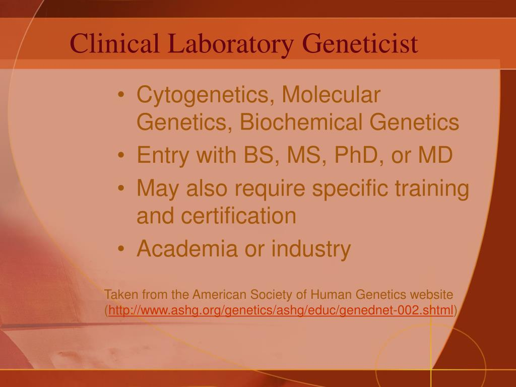 Clinical Laboratory Geneticist