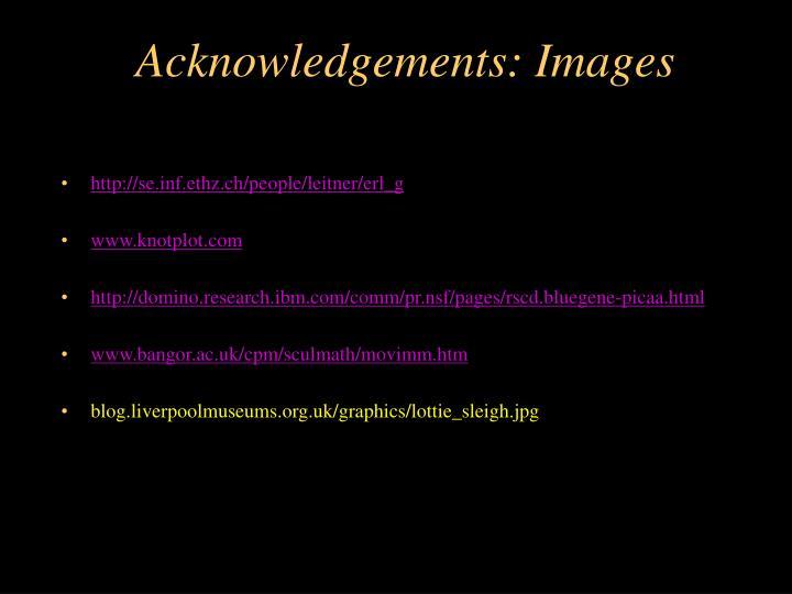 Acknowledgements: Images