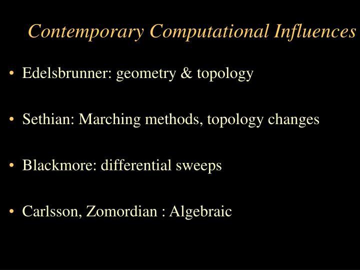 Contemporary Computational Influences