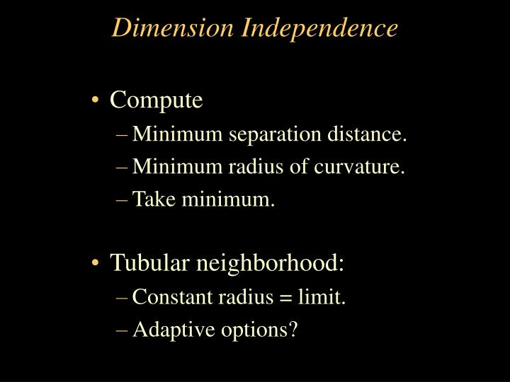Dimension Independence