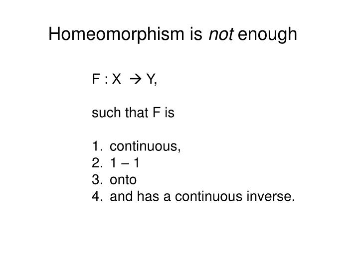 Homeomorphism is