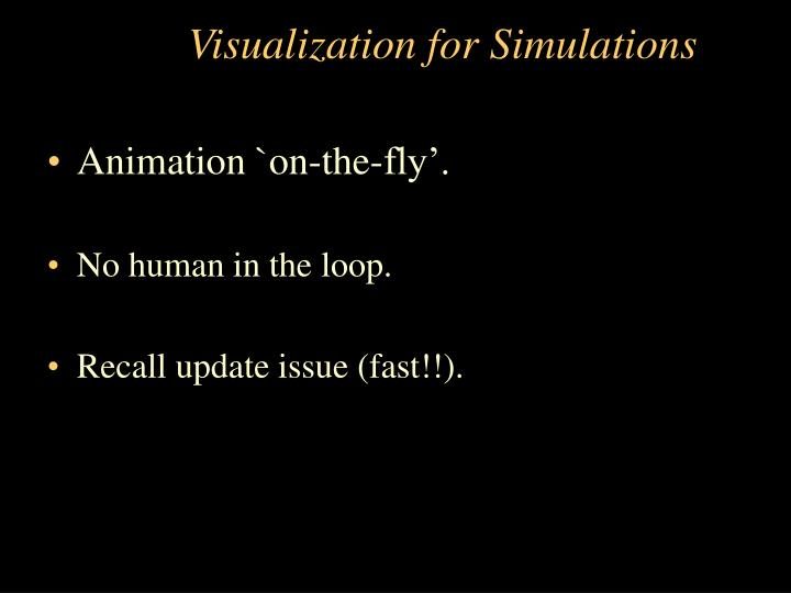 Visualization for Simulations