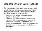 incubator water bath records5
