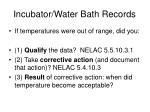incubator water bath records7