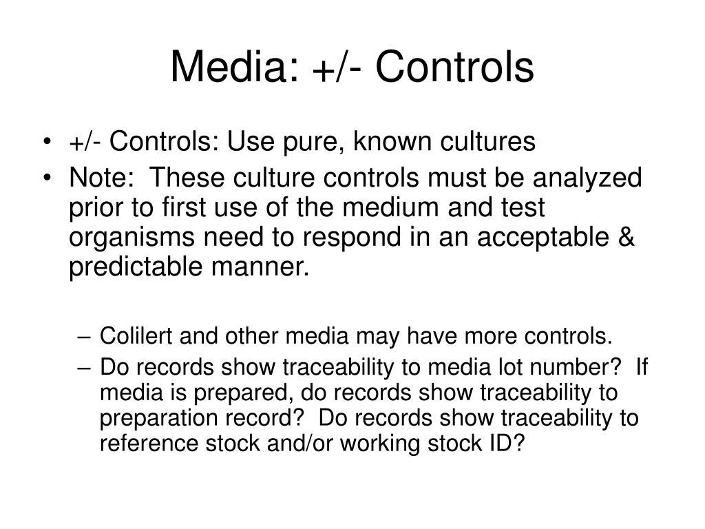 Media: +/- Controls