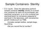 sample containers sterility