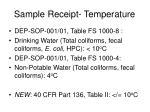 sample receipt temperature38