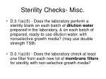 sterility checks misc47