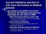 current palliative and end of life care curriculum in medical schools3
