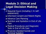 module 3 ethical and legal decision making