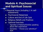 module 4 psychosocial and spiritual issues