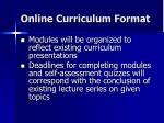 online curriculum format10