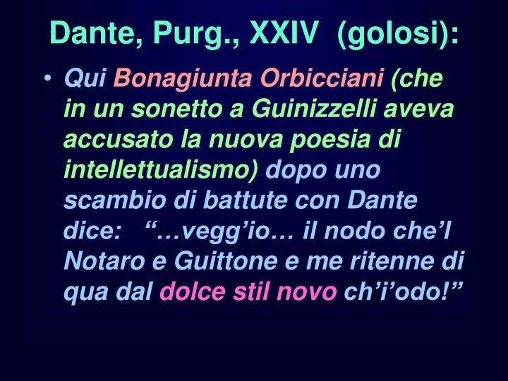 Dante purg xxiv golosi
