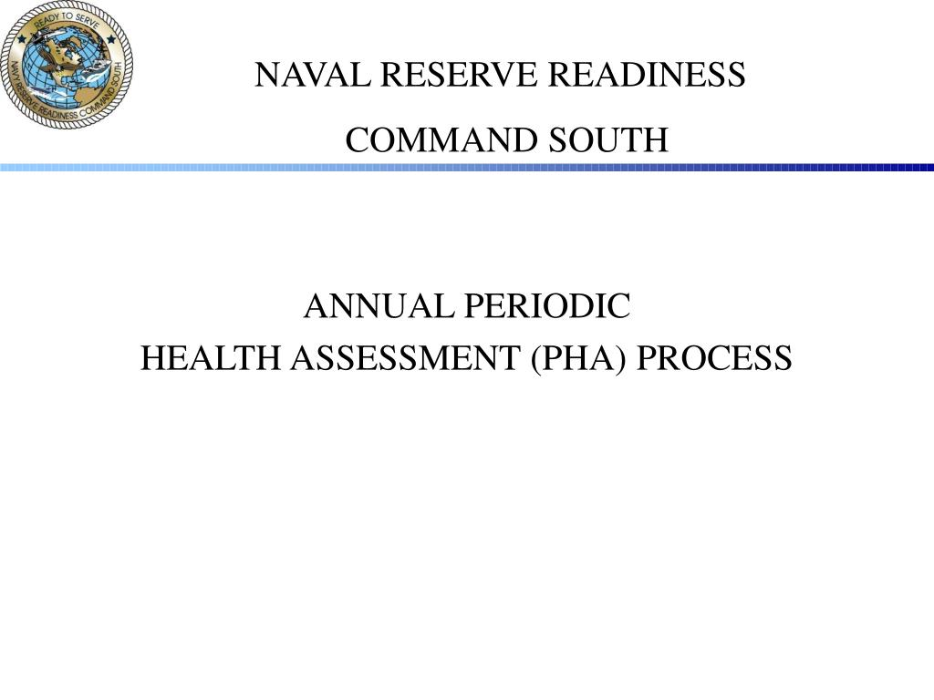 annual periodic health assessment pha process l.