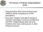 physical fitness assessment pfa