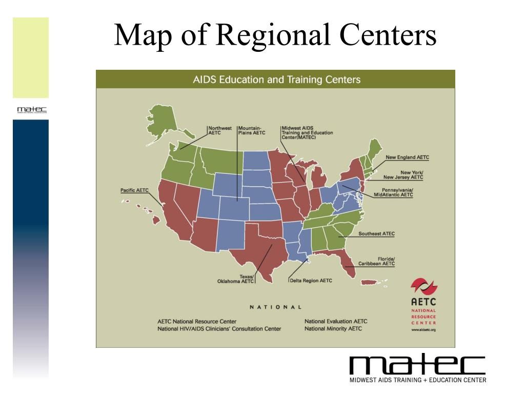 Map of Regional Centers