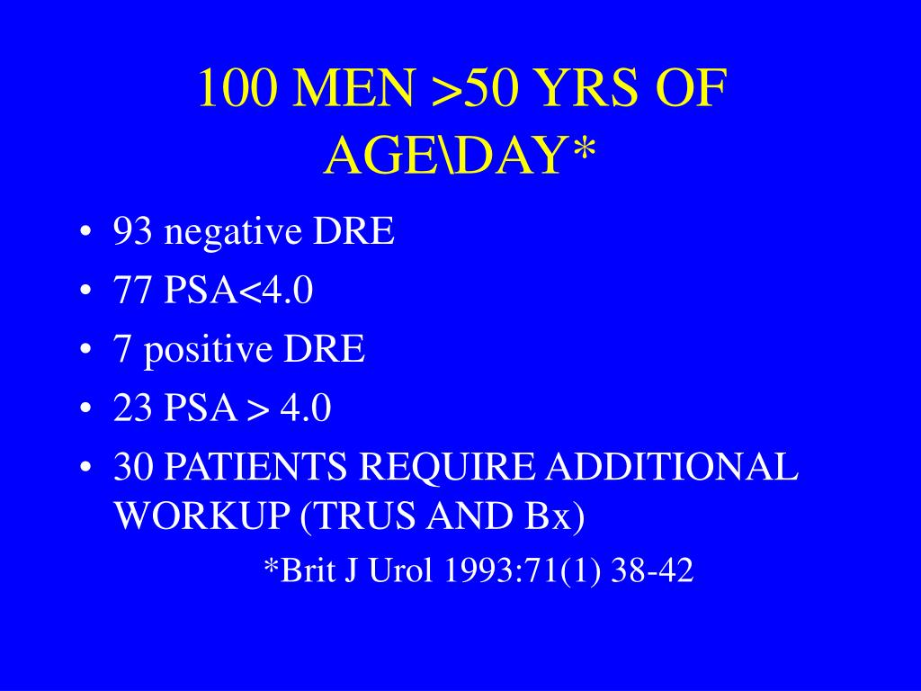 100 MEN >50 YRS OF AGE\DAY*