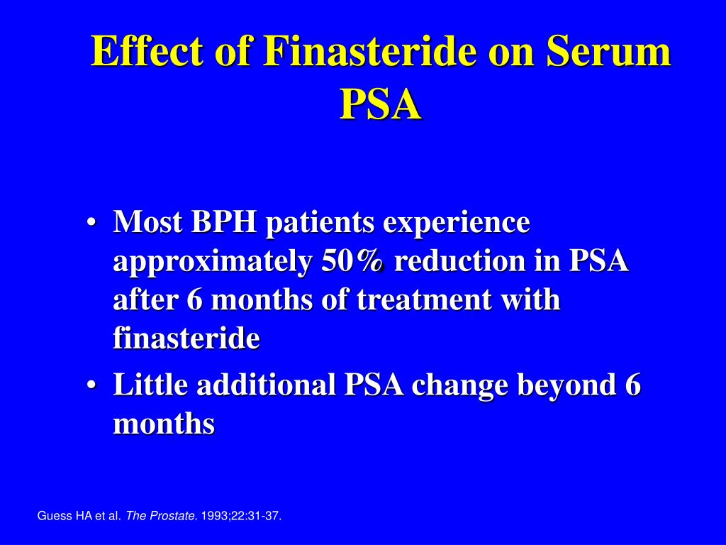 Effect of Finasteride on Serum PSA