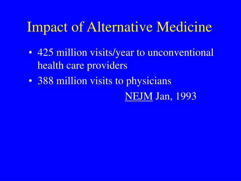 Impact of Alternative Medicine