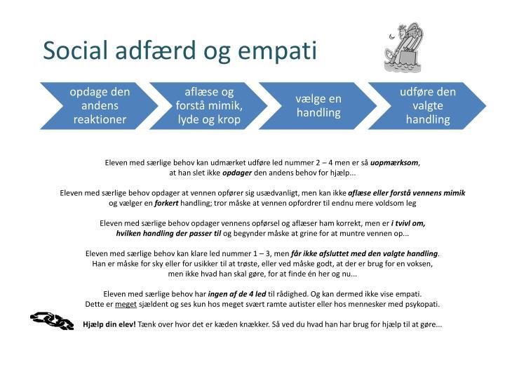 Eleven med særlige behov kan udmærket udføre led nummer 2 – 4 men er så