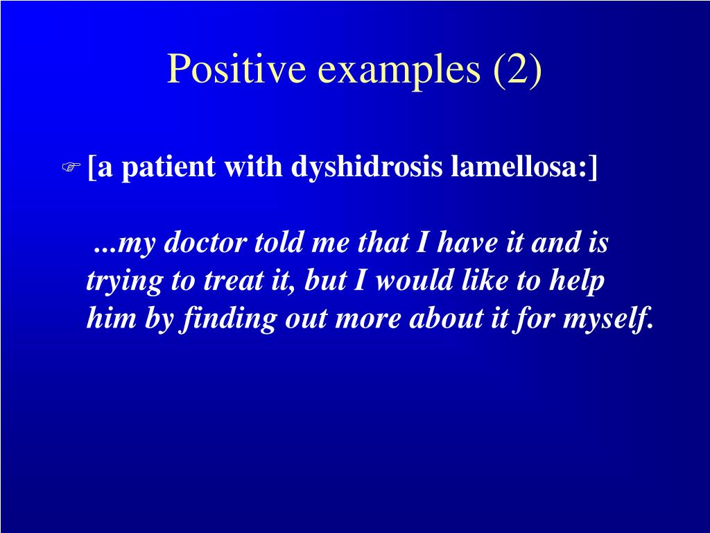 Positive examples (2)