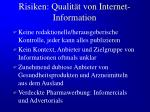 risiken qualit t von internet information