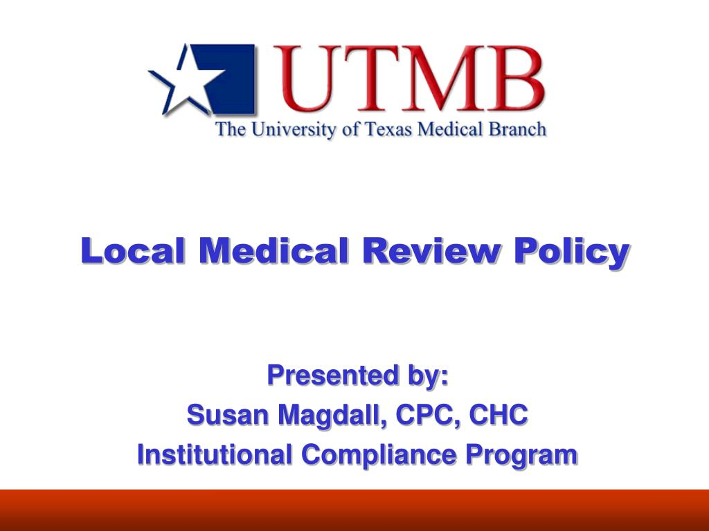 local medical review policy l.