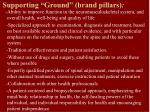 supporting ground brand pillars