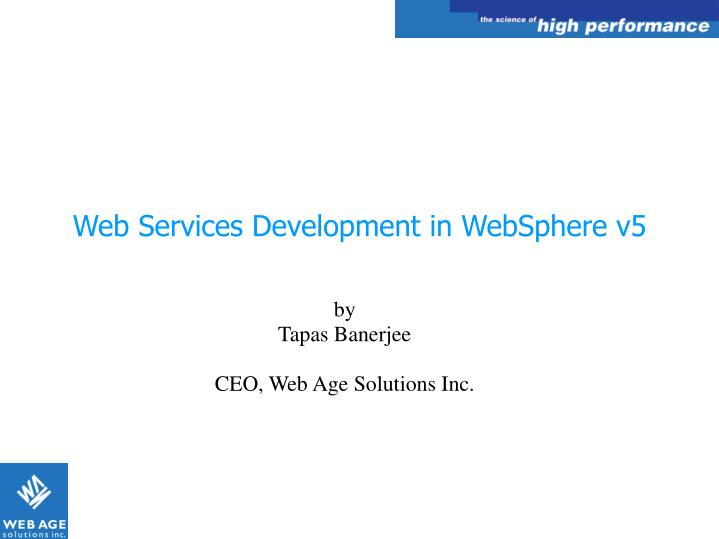 web services development in websphere v5 n.