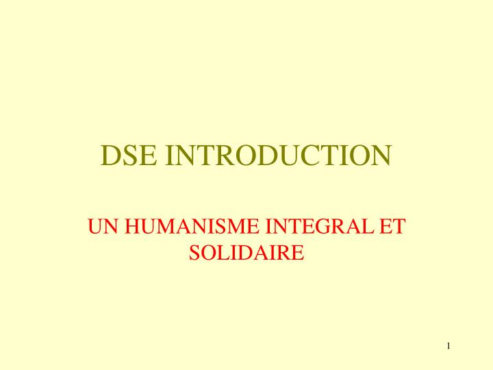 Dse introduction