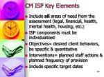 cm isp key elements