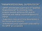 paraprofessional supervision