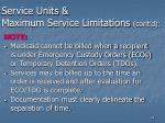 service units maximum service limitations cont d44