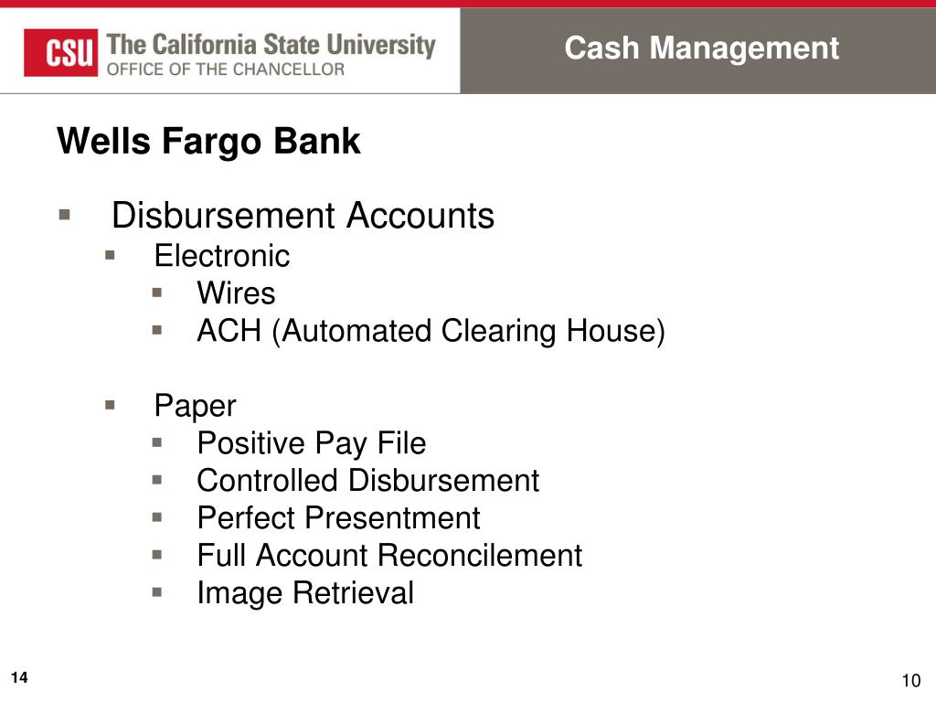 PPT - Cash Management, Systemwide Accounting, Investments