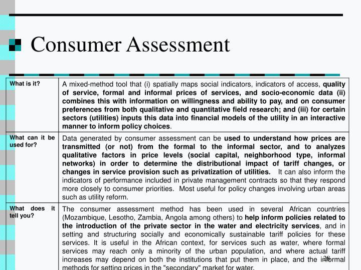 Consumer Assessment