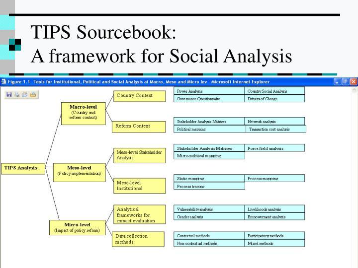 Tips sourcebook a framework for social analysis