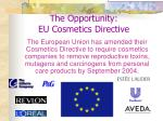 the opportunity eu cosmetics directive